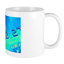 Credit card microchip, computer artwork Mug