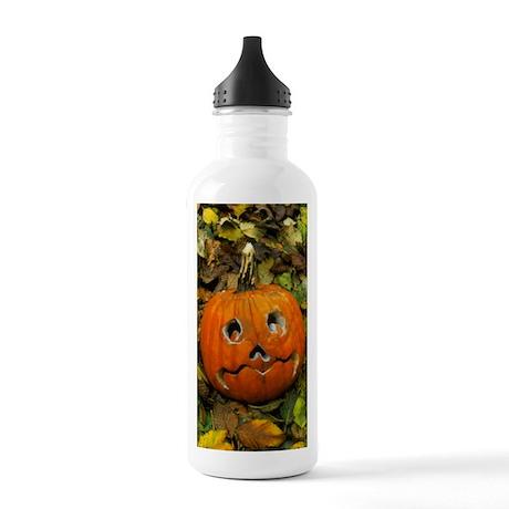 Pumpkin cut into Hallo Stainless Water Bottle 1.0L