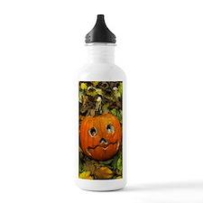 Pumpkin cut into Hallo Water Bottle