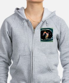 Pulmonary embolism, CT scan Zip Hoodie