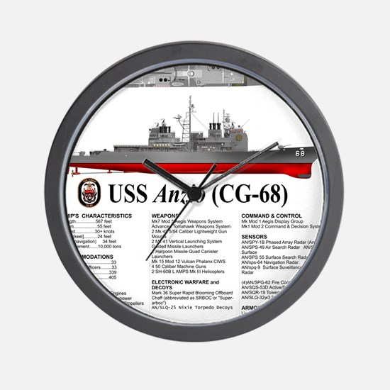 USS Anzio CG-68 Wall Clock