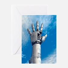 Cybernetic arm, artwork Greeting Card