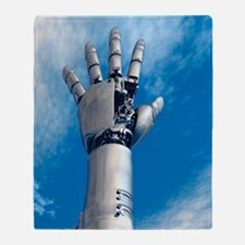 Cybernetic arm, artwork Throw Blanket