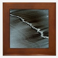 Quartz vein in schist Framed Tile