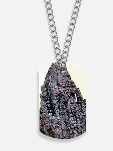 Psilomelane mineral, manganese ore Dog Tags