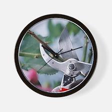 Pruning scissors Wall Clock