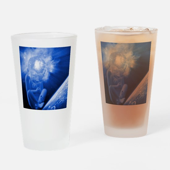 Creation, conceptual image Drinking Glass
