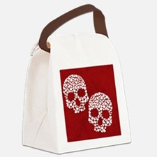 Heart Skull Canvas Lunch Bag