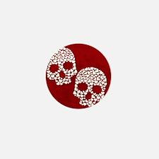 Heart Skull Mini Button