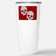 Heart Skull Stainless Steel Travel Mug