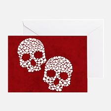 Heart Skull Greeting Card