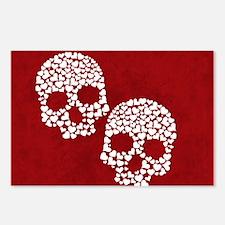 Heart Skull Postcards (Package of 8)