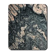 Ptygmatic folds in gneiss rock Mousepad