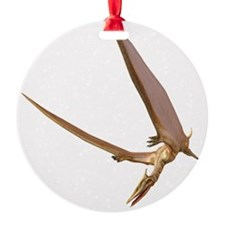 Pterosaur flying, computer artwork Ornament