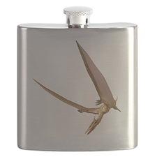 Pterosaur flying, computer artwork Flask