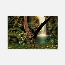Pteranodon pterosaur, artwork Rectangle Magnet