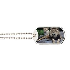 MALE AND FEMALE LIONS Dog Tags