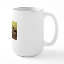 Protoceratops dinosaur defending young Mug
