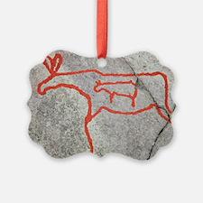 Prehistoric rock petroglyph Ornament