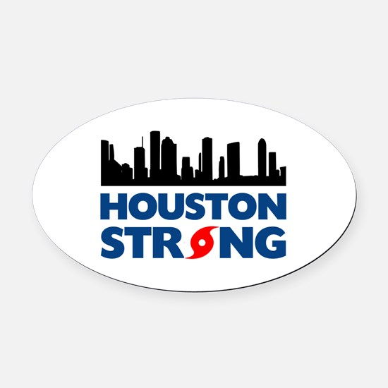 Houston Texas Strong Oval Car Magnet