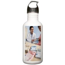 Cosmetic breast surger Water Bottle