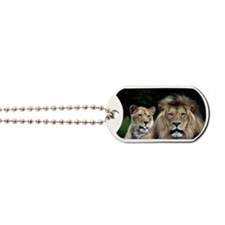MALE AND FEMALE LIONS 3 Dog Tags