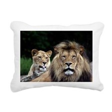 MALE AND FEMALE LIONS 3 Rectangular Canvas Pillow