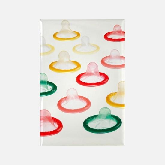 Condoms Rectangle Magnet