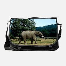 Prehistoric elephant, artwork Messenger Bag