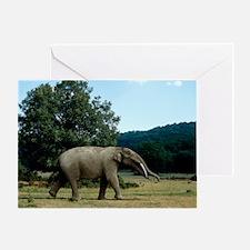 Prehistoric elephant, artwork Greeting Card
