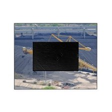 Power station - Coal storage site Picture Frame
