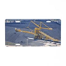 Power station - Coal storag Aluminum License Plate