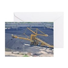 Power station - Coal storage site Greeting Card