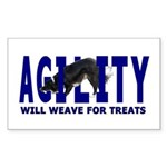 AGILITY: Will weave Rectangle Sticker