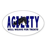 AGILITY: Will weave Oval Sticker