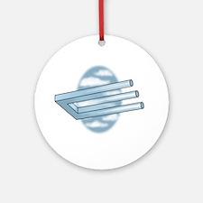 3-Pronged U-bar Ornament (Round)