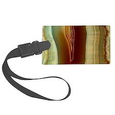 Polished slice of agate Luggage Tag