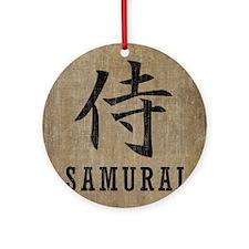 Vintage Samurai Round Ornament