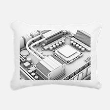Computer motherboard, ar Rectangular Canvas Pillow