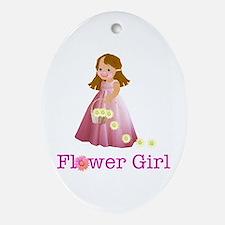 Flower Girl Oval Ornament