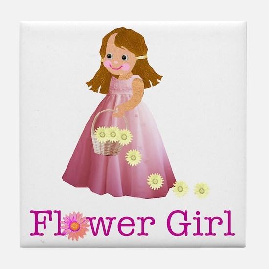 Flower Girl Tile Coaster