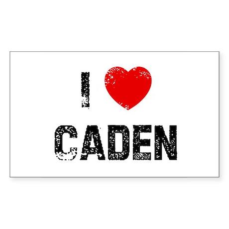 I * Caden Rectangle Sticker