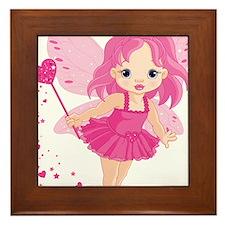 Cute Little Baby Love fairy Framed Tile