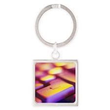 Computer key Square Keychain
