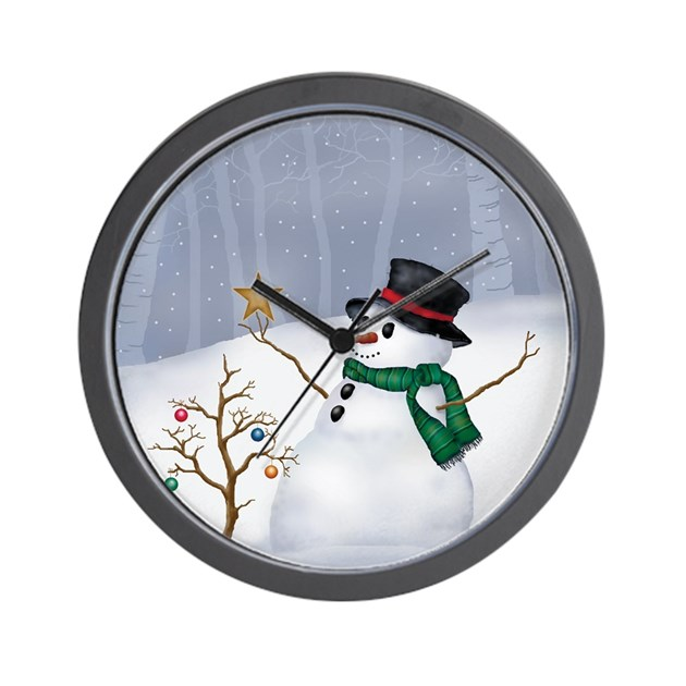 White christmas wall clock by admin cp