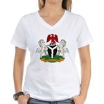 Nigerian Coat of Arms Women's V-Neck T-Shirt
