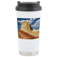 White Pocket rainbow rock Travel Mug