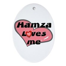 hamza loves me  Oval Ornament
