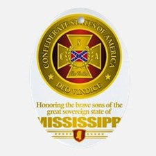 Mississippi SCH Oval Ornament