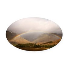 Chasing rainbows Oval Car Magnet